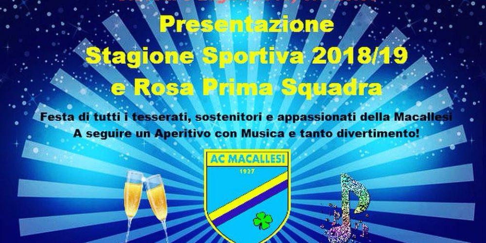 Festa di presentazione stagione 2018/2019!