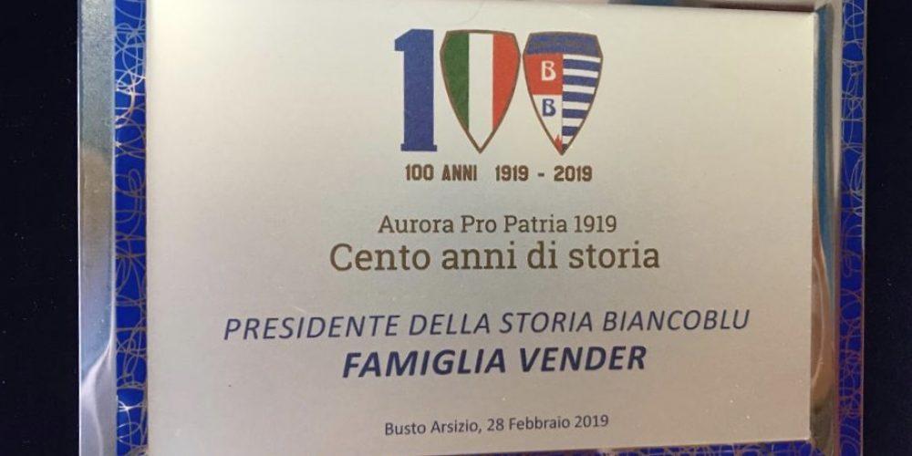 La Pro Patria celebra la famiglia Vender