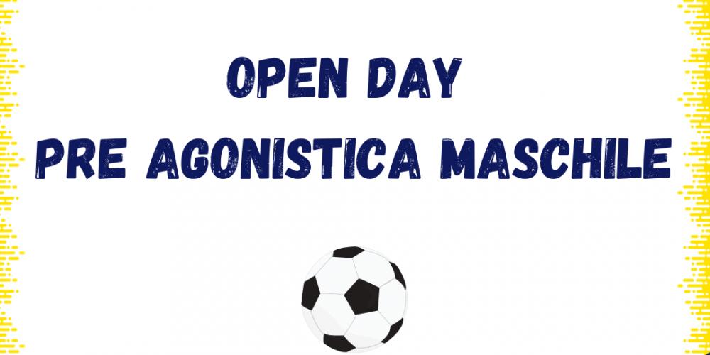 Date Open Day Scuola calcio Pre Agonistica maschile Stagione 2021/2022