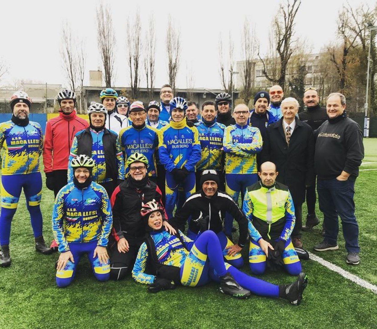 Raduno storico tra ACD Macallesi 1927 calcio e ASD Macallesi Bussero ciclismo!