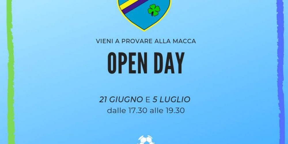 Open Day Macca!