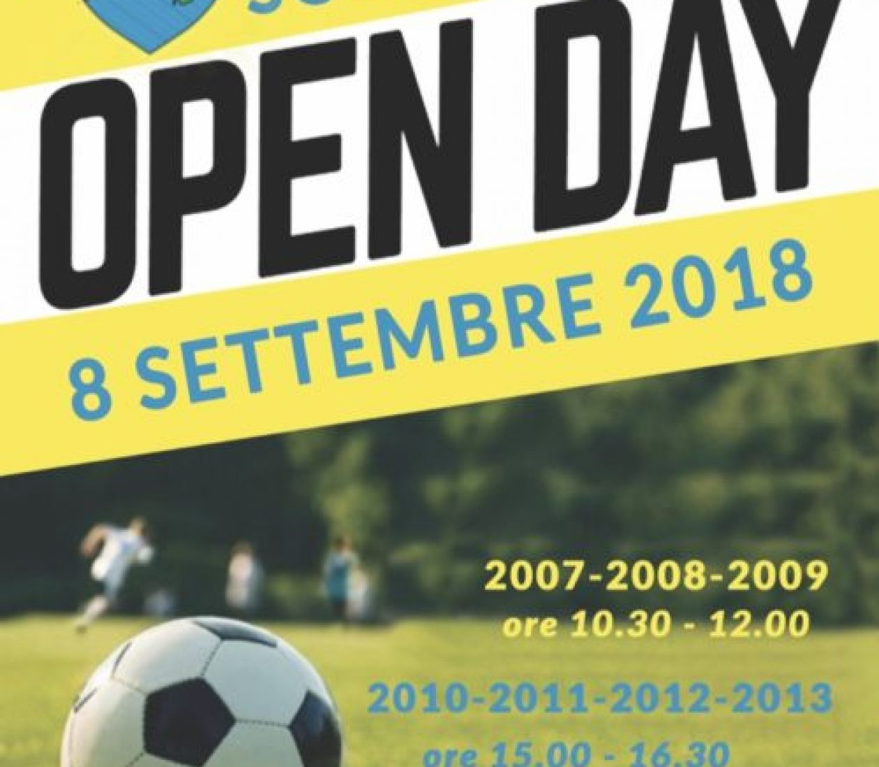 Open Day Scuola Calcio stagione 2018/2019!