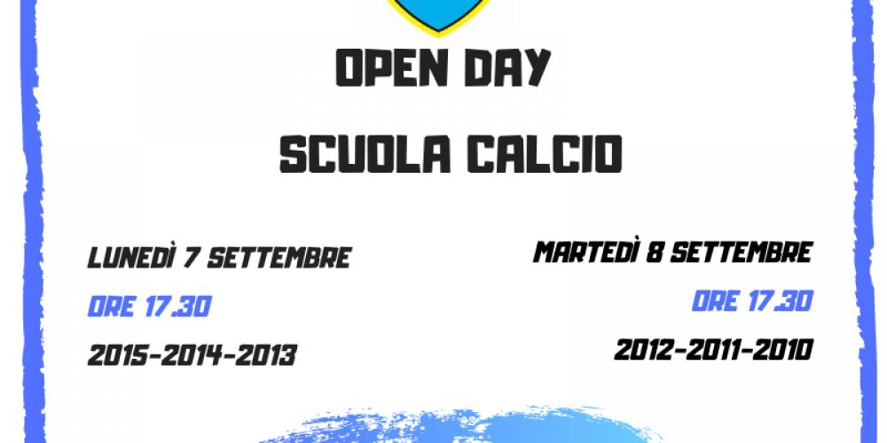 Nuove date Open day calcio maschile