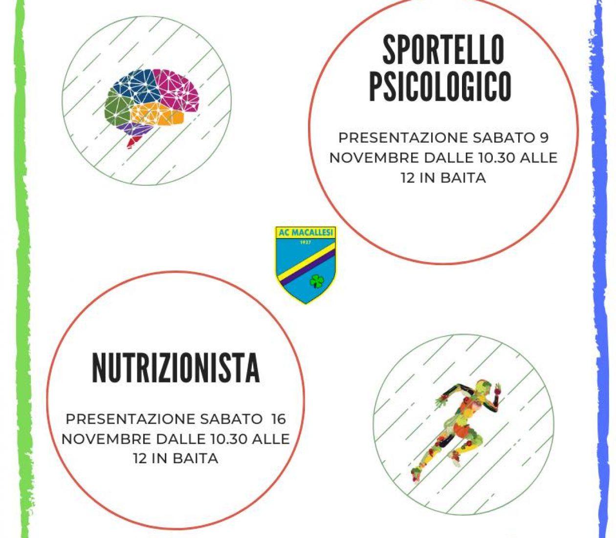 Presentazione psicologo e nutrizionista