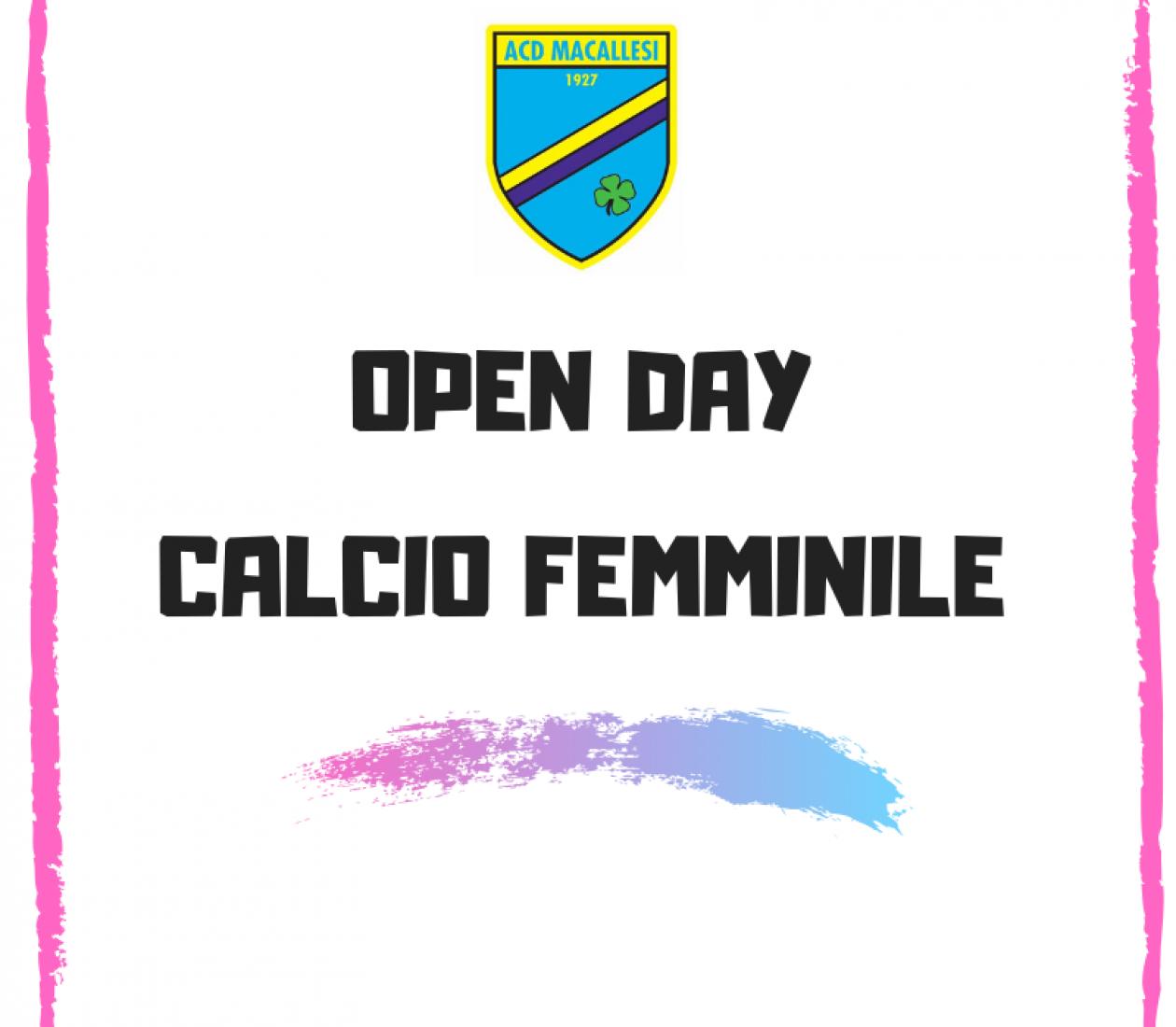 Open day 2020 calcio femminile