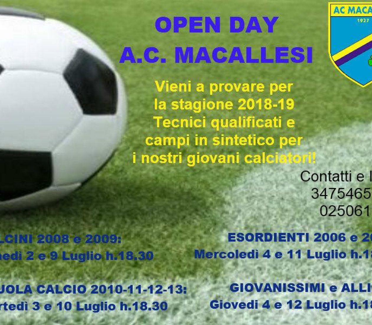 Open Day 2018!