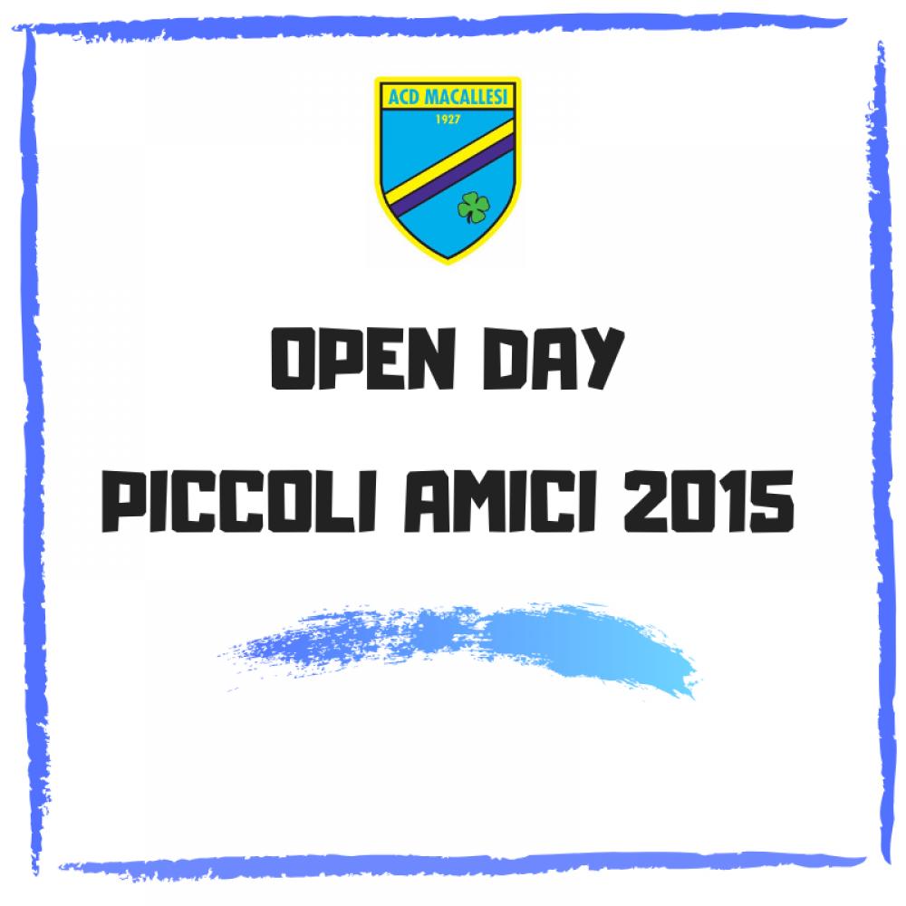 Open day piccoli amici 2015