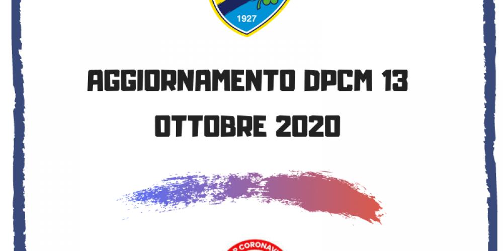 Aggiornamento DPCM 13 ottobre