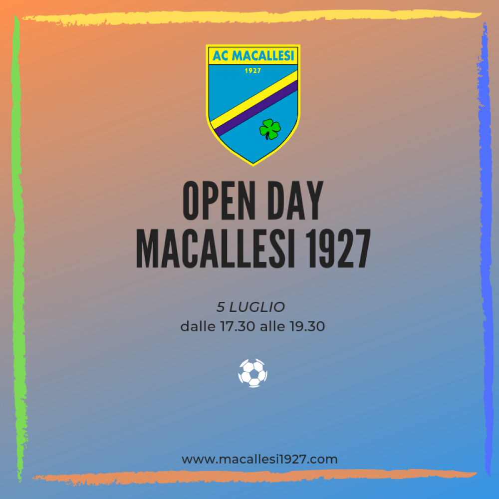 Open day Macca – Last Call!